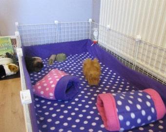 2x2 27x27 Fleece cage liner 3 layer bedding hedgehog guinea