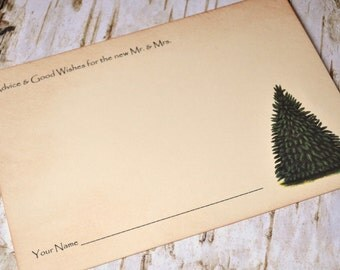 Pine Tree Guest Book Winter Guest book Pine Tree Guest book Rustic Tree Guest book