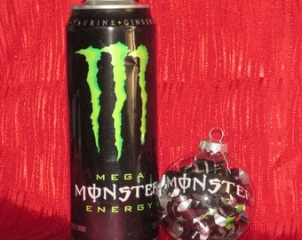 Repurposed Monster Energy Drink Can Ornament