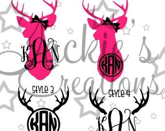 Deer/Antler Monogram Decals