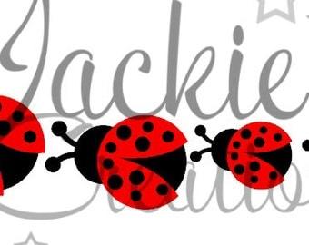 Ladybug Family Decal