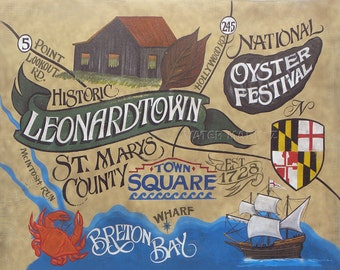 Leonardtown St. Marys County    MD. Print