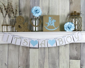 It's A Boy Banner, Baby Shower Banner, Baby Shower Decor, Baby boy Banner, Its a boy, It's a boy Sign, Boy baby shower, shower decorations
