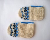 SALE kids slippers, knit kid child slippers socks, children slippers socks, crochet kids booties socks, toddler children shoe size 6 7 8