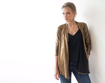 Metallic Bronze long sleeves Jacket with side pockets 2011