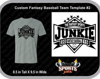 Custom Personalized Fantasy Baseball Team T-shirt (#2) for Fantasy Baseball Legends, great gift for Commish & Fantasy Sports lovers.