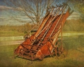 Elevated Hay Rake - Vintage Farm Machine - Wall Decor - Gift For Farmer - Implement - Agricultural Photograph - Home Decor - Wall Art