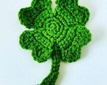 Crochet Pattern Four Leaf Clover- Green Clover Crochet- Instant Download