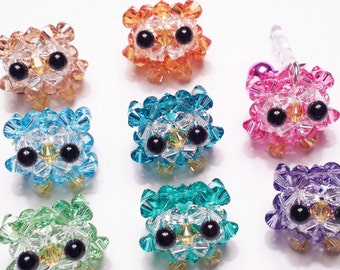 Swarovski Crystal Owl Cell Phone Charm Strap with Bell (Assorted Colors)