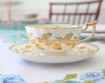 Vintage English Bone China Royal Chelsea Teacup and Saucer Replacement China Gifts for Her