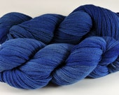 Hand Dyed Yarn Merino Wool Blue Shaded Lace Weight Soft 2444