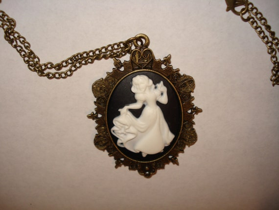Snow White Cameo Necklace Victorian Snow White Disney Princess Dancing Dress