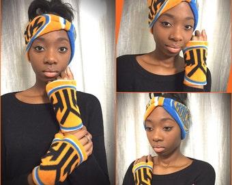 New York Knicks headband/glovelet set
