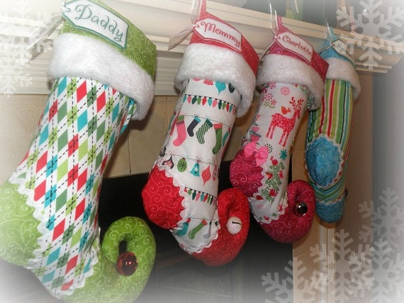 Personalized Christmas Stocking Set of 4