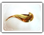 GoldTone Swoosh Brooch by Casual Corner -   Pin-1171a-012312000