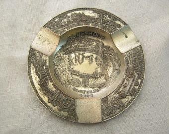 Enco Occupied Japan Ashtray Castalia Blue Hole Souvenir