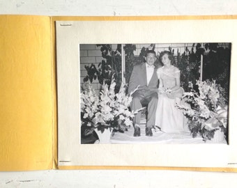 Vintage Junior Prom Photo Ephemera from 1950s at Charlotte High School Commemorative Booklet for Autographs