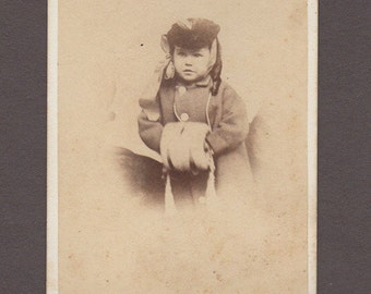 J. W. Black CDV of a Beautifully Dressed Little Girl