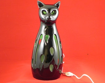 Cat Lantern cast from Stangl mold by Hiatt House Pottery