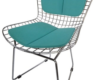 Cushion & Back Pad for Bertoia Side Chair - Miracle Fabric - Many Colors Available