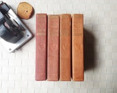 Vintage red book collection/ Robert Louis Stevenson/ 4 volume set/ classic literature/ Antiquarian/  Collectible Balmoral edition