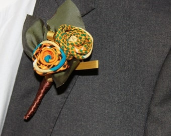 African print Boutonnières,Buttonhole, Groomsmen, Wedding Boutonnieres, Groom, weddings, Lapel pin