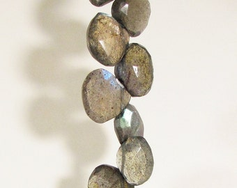 Labradorite Faceted Briolette Beads 8mm - 9mm