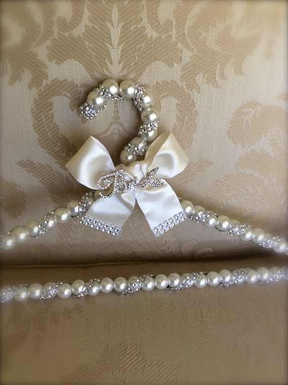 Bridal hanger wedding dress hanger dress by thecrystalflower for Wedding dress hanger amazon