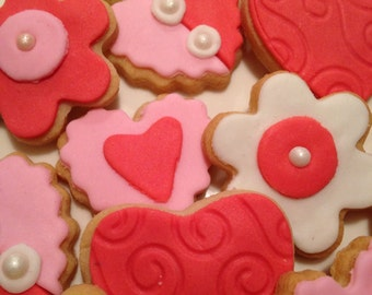 Valentine's Day Cookie-Mini heart Cookies-2 dozen-Mini Heart Cookies