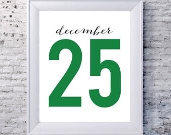 December 25 Green
