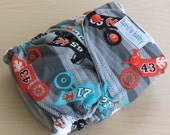 One Size Hybrid Fitted Cloth Diaper - motor bikes