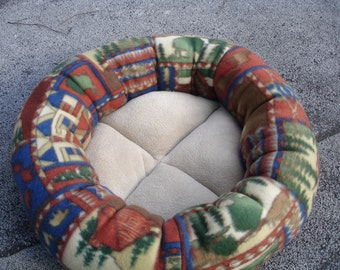 Dog bed, cat bed, pet bed, round bed, donut bed, fleece pet bed, machine washable,kitty bed, puppy bed, small dog bed, pet beds, cat beds