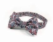 "Men's Bow Tie- Berry Multi Floral (Self Tie, 14.5""-18.5"")"