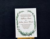 Magnolia Letterpress Wedding Invitations - DEPOSIT