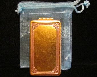 Vintage 1910s Melba Compact Powder Compact Mirror Compact Gold Tone Compact Art Deco Compact Very Good Condition