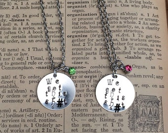 We Got This Sh&t Hand Stamped Birthstone Necklace Mature Content
