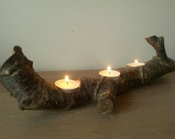 Natural wooden candle light holder/branch