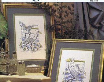 Graceful Cranes Cross Stitch Chart Pattern 2 Designs by Michele Johnson