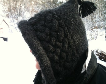 "Knitting Pattern ""Black Rocks Hood"""