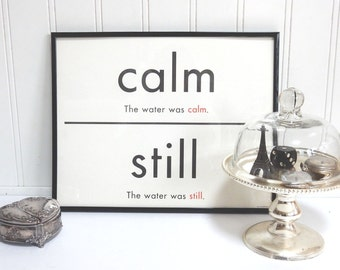 Popular items for synonyms on etsy for Decor synonym