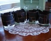 Vintage barware 4 pc set mancave decor cognac serving glassware gift idea wedding table decor wedding table setting
