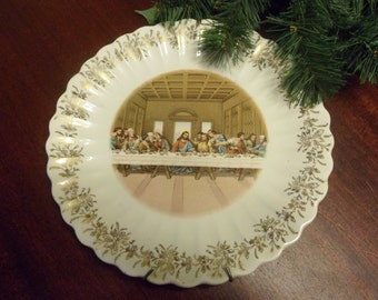 The Lords Supper Plate Made By Sanders Mfg Co., 23-K-Gold, First Edition      (T)