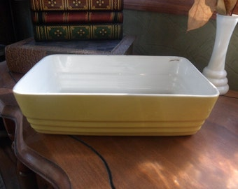 Ridged Hall China Refrigerator, Baking Dish Made Exclusively For WestingHouse