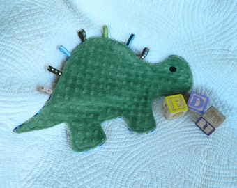 Cuddly Green Print Dinosaur Snugglie