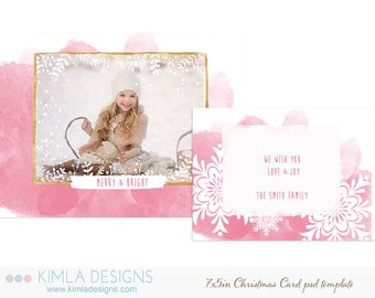 7x5 in Christmas Card Template