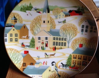 Betsey Bates Plate 'The Village Church' 1984