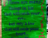 Wall Art - canvas panel with painted quote