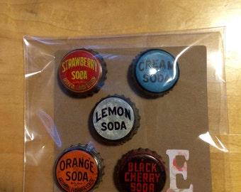 Vintage bottle cap magnets