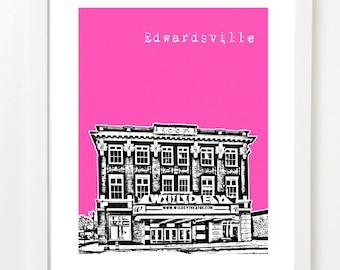 Edwardsville Poster- City Art Print - Edwardsville Illinois