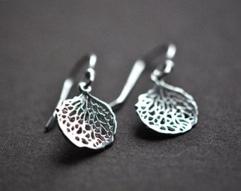 Coral Earrings - Sterling Silver Coral Branch Earrings - Small Coral Earrings - Nautical Jewelry - Dainty Earrings - Aldari Jewelry Designs